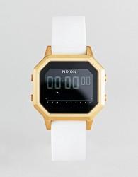 Nixon A1211 Siren Digital Silicone Watch In White - White