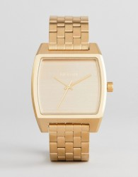 Nixon A1245 Time Tracker Bracelet Watch In Gold - Gold