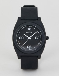 Nixon A1248 Time Teller P Corp Silicone Watch In Black - Black
