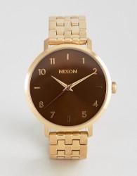 Nixon Manuka Arrow Bracelet Watch In Gold - Gold