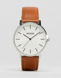 Nixon Porter Leather Watch In Tan - Tan