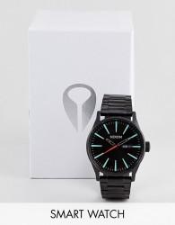 Nixon Sentry SS Bracelet Watch In Black - Black