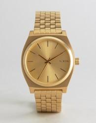 Nixon Time Teller Bracelet Watch In Gold - Gold
