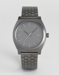Nixon Time Teller Bracelet Watch In Gunmetal - Grey