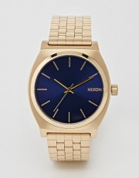 Nixon Time Teller Gold Stainless Steel Watch - Gold