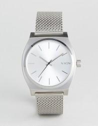 Nixon Time Teller Luxe Silver Mesh Watch - Silver