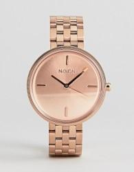 Nixon Vix Bracelet Watch In Rose Gold - Gold