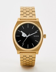 Nixon X Mickey Mouse Time Teller Watch In Gold - Gold