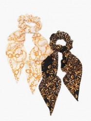 NLY Accessories 2 pack Scarf Scrunchies Håraccessories