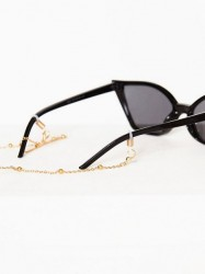 NLY Accessories Exclusive Sunglasses Chain Solbriller Guld
