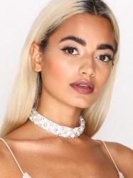 NLY Accessories Pearl & Crystal Choker Halskæde Pearl