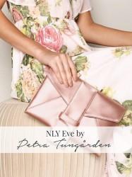 NLY Accessories Satin Rose Clutch Håndtaske Rosa/Lyserød