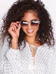 NLY Accessories Triangle Edge Sunglasses Solbriller Brun