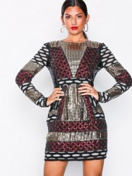 NLY Eve Beaded Pattern Dress Pailletkjoler Multicolor