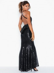 NLY Eve Cross Back Mermaid Gown Pailletkjoler