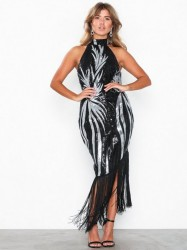 NLY Eve High Neck Fringe Dress Pailletkjoler