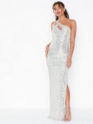 NLY Eve One Shoulder Sparkling Gown Pailletkjoler