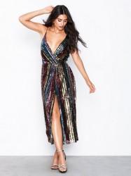 NLY Eve Rainbow Wrap Dress Pailletkjoler
