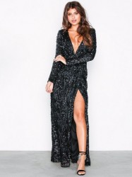 NLY Eve Sequin Lace Drape Gown Pailletkjoler