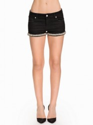 NLY ICONS Diamond Black Shorts Shorts Sort