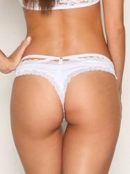 NLY Lingerie Back Strap Thong G-streng Hvid