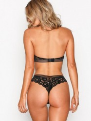NLY Lingerie Sexy Thong Panty G-streng Sort