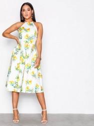 NLY One Cross Back Midi Dress Kropsnære kjoler Citron