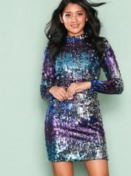 NLY One Fade Away Sequin Dress Pailletkjoler Blå