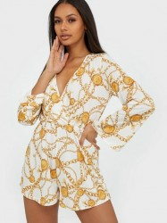 NLY One Flowy Print Playsuit Playsuits