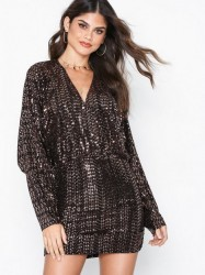 NLY One Glam Plunge Dress Pailletkjoler