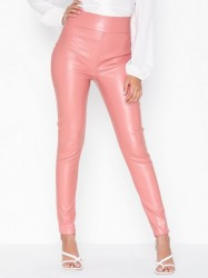 NLY One Leatherlook Pant Bukser