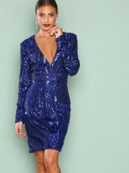 NLY One Luxe Glitter Dress Pailletkjoler Blå