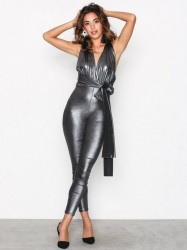 NLY One Multi Tie Metallic Jumpsuit Jumpsuits Sølv