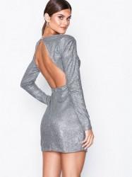 NLY One Power Glitter Dress Pailletkjoler Sølv
