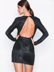 NLY One Power Glitter Dress Pailletkjoler Sort