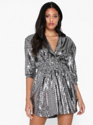 NLY One Square Sequin Dress Pailletkjoler