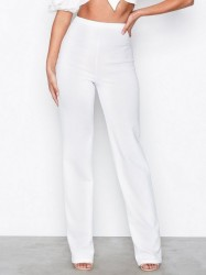 NLY One Straight Crepe Pant Bukser Hvid