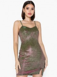 NLY One Two Tone Shimmer Dress Pailletkjoler