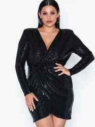 NLY One Wrap Sequin Dress Pailletkjoler