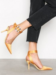NLY Shoes Buckle Heel Pump Pumps Gul