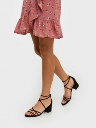 NLY Shoes Flirty Strap Low Block Low Heel Sort