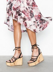 NLY Shoes Lace Up Wedge Heel High Heel