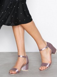 NLY Shoes Low Block Heel Sandal Low Heel Mauve