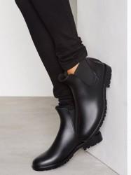 NLY Shoes Low Chelsea Rain Boot Gummistøvler Sort
