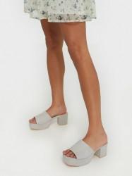 NLY Shoes Low Platform Mule Low Heel Beige