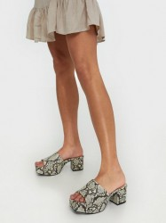 NLY Shoes Low Platform Mule Low Heel Snake
