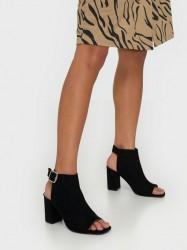 NLY Shoes Open Toe City Heel High Heel Sort