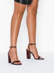 NLY Shoes Strap Heel Block Sandal High Heel