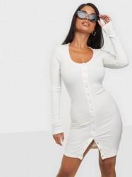NLY Trend Button Front Dress Langærmede kjoler