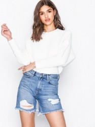 NLY Trend Cheeky Fit Midi Denim Shorts Shorts Light Blue Denim